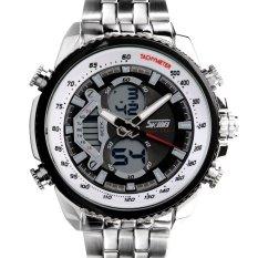 Skmei Classic Steel Import Quartz Multifunction Dual Display Waterproof Men's Watches