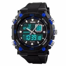 SKMEI Dual Time Casio Men Sport LED Anti Air Water Resistant WR 50m AD1092 Jam Tangan