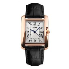 SKMEI Fashion Casual Ladies Leather Strap Watch Water Resistant 30m - 1085CL - Hitam