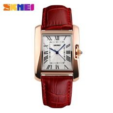 SKMEI Fashion Casual Ladies Leather Strap Watch Water Resistant 30m - 1085CL - Merah