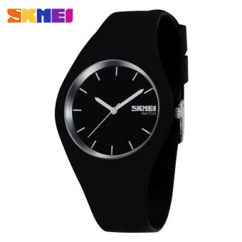 SKMEI Fashion Casual Ladies Leather Strap Watch Water Resistant 30m - 9068C - Black White