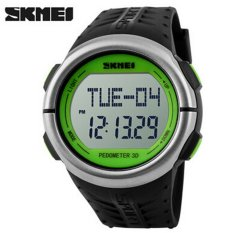 SKMEI Fashion Outdoor Sports Watches Pedometer Heart Rate Monitor Calories Counter Digital Watch Fitness Men Wristwatches (Green)