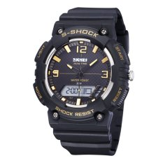 SKMEI Fashion Watches Cool Waterproof Male and Female Student Movement In Electronic Watches-Gold (Intl)