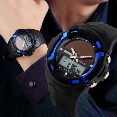SKMEI Hombre Solar Reloj LED Digital Dual Time Deporte Outdoor Impermeable Watch Black (Intl)