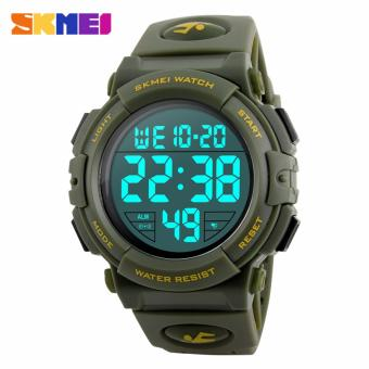 SKMEI Jam Tangan Pria Jam Tangan Digital Sporty Day Date Alarm Water Resist DG1258 - Army Green