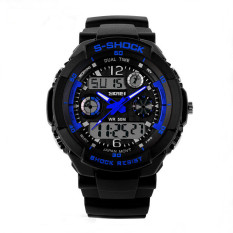 SKMEI Luxury Brand Men Military Sports Watches Digital LED Quartz Wristwatches Blue (Intl)