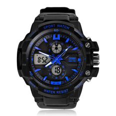 Skmei Men Watch Digital Analog Fashion Brand Sports S Shock Watches (Blue) (Intl)