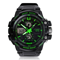 Skmei Men Watch Digital Analog Fashion Brand Sports S Shock Watches (Green) (Intl)