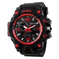 SKMEI Men's Fashion Big Size Dual Time Analog & Digital Sport Watch