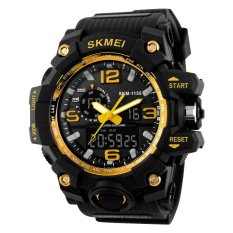 SKMEI Men's Fashion Big Size Dual Time Analog & Digital Sport Watch - Intl