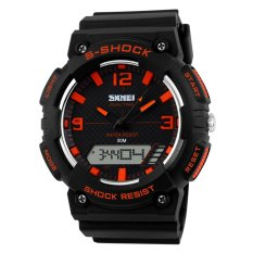 SKMEI Men's Fashion Dual Time Analog-Digital Sport Watch - Intl