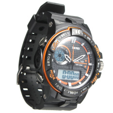 SKMEI 1070 Men's LED Digital Waterproof Rubber Sports Wrist Watch