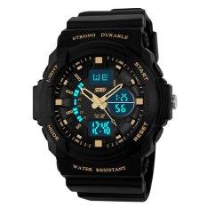 SKMEI merek Watch 0955 Relogio Masculino laki-laki olahraga selai Digital LED Jelly militer selai Pria Jam Tangan 50M tahan air siswa menonton