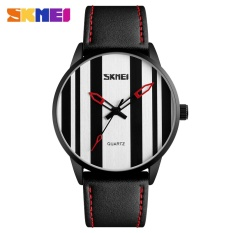 SKMEI merek Watch 1602S busana pria wanita Watch kuarsa jam tangan pria asli kulit Seng Alloy kasus atas wanita Relogio Masculino