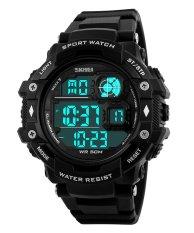 SKMEI Outdoor Sports Men's OLA-SK1118A Multifunctional Digital Display Waterproof Watch Black - Intl