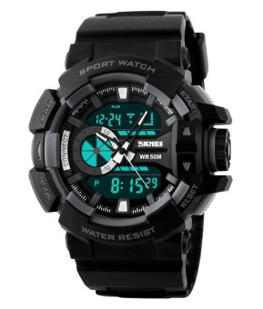 SKMEI Outdoor Sports OLA-SK1117C Dual Time Display Waterproof Digital Watch Grey - Intl - Intl