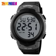 SKMEI Pioneer Sport Watch Water Resistant 50m - DG1068 - Black / Silver