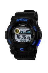 SKMEI S-Shock Sport Watch Water Resistant 50m - Silicone Strap - Biru - DG0907