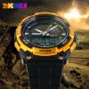 SKMEI Shishang tahan air laki-laki dual display menonton elektronik jam tangan pria