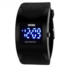 SKMEI Silicon Wristband LED Watch Water Resistant 30m - Jam LED Gelang - 0951 - Hitam