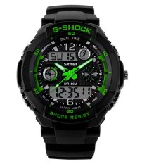 SKMEI Sports OLA-SK0931LC Multifunctional Dual Time Display Waterproof Watch Green - Intl