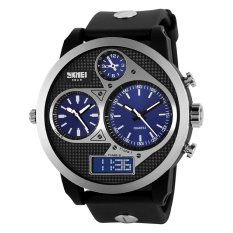SKMEI Sports OLA-SK1033A Three-time Display Waterproof Digital Watch Blue Dial - Intl
