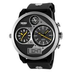 SKMEI Sports OLA-SK1033B Three-time Display Waterproof Digital Watch Yellow Pointer - Intl