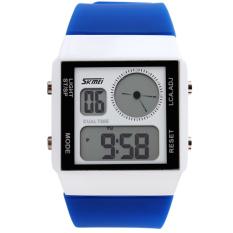 SKMEI Unisex Loves Sport Waterproof Rubber Strap Wrist Watch - Blue 0841 - Intl