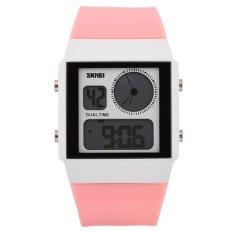 SKMEI Unisex Loves Sport Waterproof Rubber Strap Wrist Watch - Pink 0841 - Intl