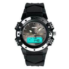 SKMEI Unisex Sport Waterproof Rubber Strap Wrist Watch -Black 0821