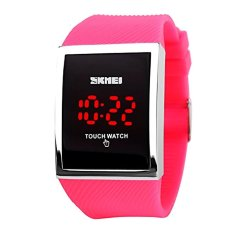 Skmei Unisex Touch Screen Digital LED Waterproof Mens Womens Sport Casual Wrist Watches-Rose Red (Intl)