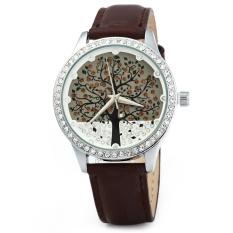 SKONE 5082 Women Quartz Imitation Diamond Wrist Watch Coffee (Intl)