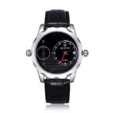 SKONE The New Men's Genuine Temporal Trend Of Men's Watch Wholesale Double Core with Plaid Dial Calendar-Black Black (Intl)