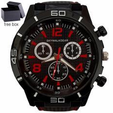 Skywalkgear Hugo Jam Tangan Pria - 5001 Hitam/Merah