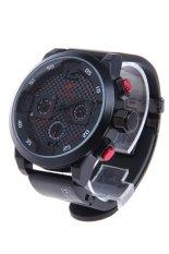 SPEATAK SP9035 Fashion Luxury Rubber Band Analog Quartz Wrist Watch For Men - Black + Red