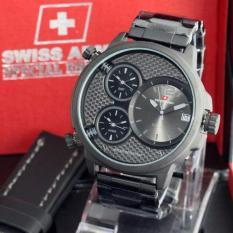 [SPECIAL EDITION] Jam Tangan Pria Swiss Army Triple Time Bonus Leather Strap Fashion Pria Casual & Formal