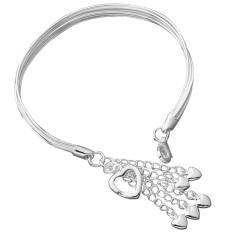 Sterling Bracelet Band Women Jewelry Treasure Silver (Intl)