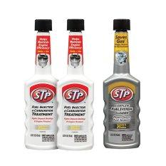 STP - Paket Jos Bensin (Fuel Injector & Carburetor Cleaner x2 + Complete Fuel System Cleaner) - Campuran BBM Aditif Bensin