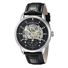 Stuhrling Original Men's 133.33151? Executive Automatic Skeleton Black Genuine Leather Strap Watch (Intl)