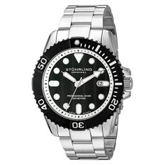 Stuhrling Original Men's 'aquadiver' Swiss Quartz Stainless Steel Casual Watch (Model: 328B.33111) (Intl)