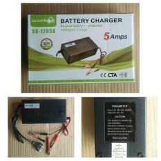 Sunpro Charger Accu/Aki Portable 5A/12v - Hitam
