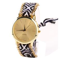 SuperCart Ethnic Style Lady Women's Knit Quartz Bracelet Wristwatch For Women (Type 9) (Intl)