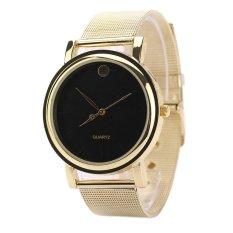 SuperCart Women's Elegant Round Stainless Steel Band Watches (Black) (Intl)