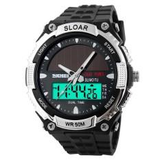 Surya Waterproof menonton olahraga elektronik Digital LED bercahaya (Silver) - International