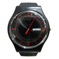 Swatch - Jam Tangan Pria - Hitam - Strap Rubber Hitam - SUOB714