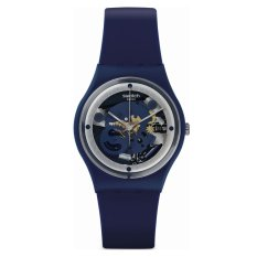 Swatch - Jam Tangan Wanita - Biru-Biru - Rubber Biru - GN245 Squelette Blue