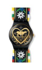 Swatch Jam Tangan Wanita-GB265 DIE GLOCKE - Hitam