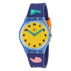Swatch Jam Tangan Wanita-GN242 1,2,3 SOLEIL-Biru