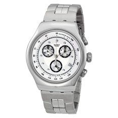 Swatch Men's YOS401G Chrono Wealthy Star Silver Dial Watch - Intl
