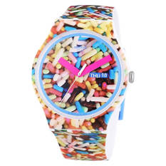 Swatch Sprinkled Graphic Dial Plastic Silicone Quartz Men's Watch SUOW705 - Intl